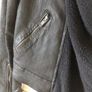 Free People Jackets & Coats - Free People size 2 black shawl denim coated jacket